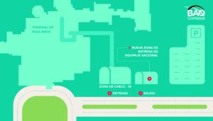 Mapa ubicación entrega de equipaje